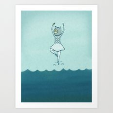Lost at sea, doesn't bother me Art Print