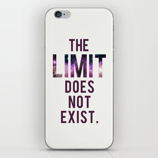 The Limit Does Not Exist - Mean Girls quote from Cady Heron iPhone & iPod Skin