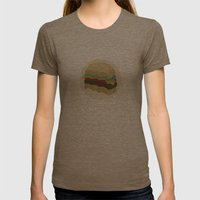 Totally a Burger Womens Fitted Tee Tri-Coffee SMALL