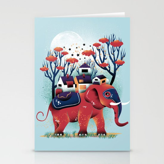 A Colorful Ride Stationery Card
