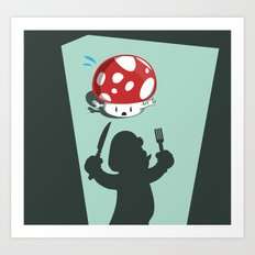 Oh no! It's Mario! Art Print