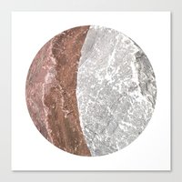 Planetary Bodies - Crescent Rock Canvas Print
