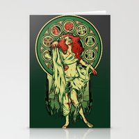 zombie Stationery Cards featuring Zombie Nouveau by Megan Lara