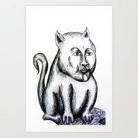 Cat being Art Print