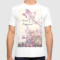 Choose Happiness Mens Fitted Tee White SMALL