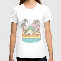 los angeles T-shirts featuring Los Angeles by McKean Studio