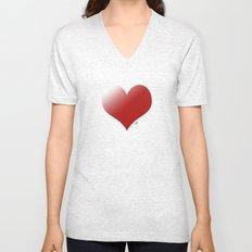 love red Unisex V-Neck