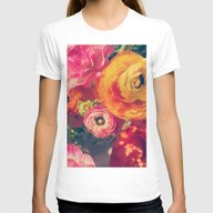 Ranunculus Womens Fitted Tee White SMALL