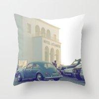 Hotel Atlantis Vintage Moment  Throw Pillow