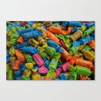 colorful tootsie rolls Canvas Print
