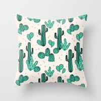 Cactus by Andrea Lauren Throw Pillow