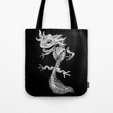 Axolotl Skeleton Tote Bag
