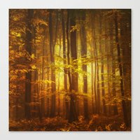 Yellow Fall Canvas Print