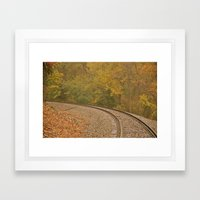 A Bend in the Tracks Framed Art Print