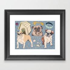 For The Love Of Bulldogs Framed Art Print