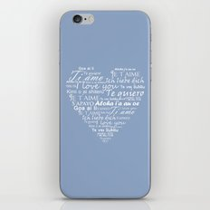 Heart I Love You In Othe… iPhone & iPod Skin