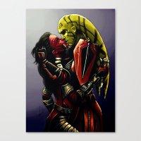 SWTOR - Kiss Canvas Print