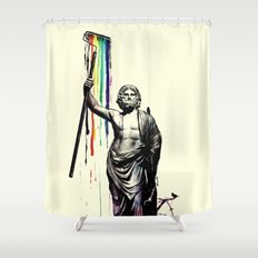God of Graffiti Shower Curtain