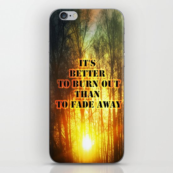 Sunset and the frost  iPhone & iPod Skin