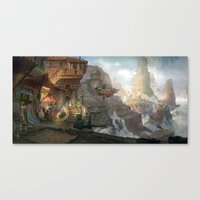 Canyon City In The Cloud… Canvas Print