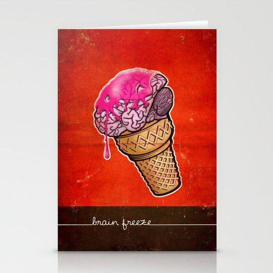Brain Freeze! Stationery Card