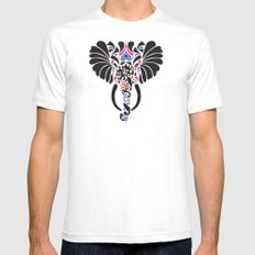 Asian Elephant Mens Fitted Tee White SMALL