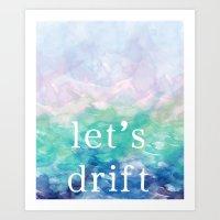 Let's Drift in a Watercolor Art Print