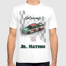 For the members of Jr. Nation SMALL White Mens Fitted Tee