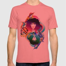 Afro Girl Mens Fitted Tee Pomegranate SMALL