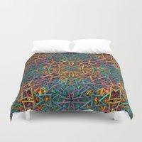 Colorful Fractal Pattern Duvet Cover