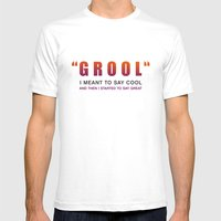 Grool - Quote from the movie Mean Girls Mens Fitted Tee White SMALL