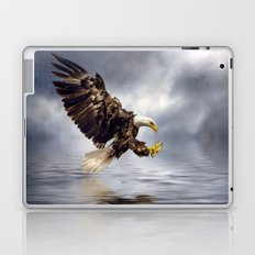 Young Bald Eagle Swooping Laptop & iPad Skin