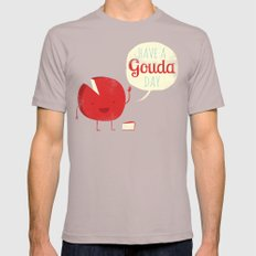 Have A Gouda Day Mens Fitted Tee Cinder SMALL