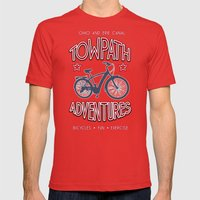 TOWPATH ADVENTURES Mens Fitted Tee Red SMALL