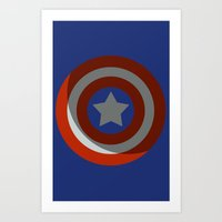 The Captains Shield Art Print