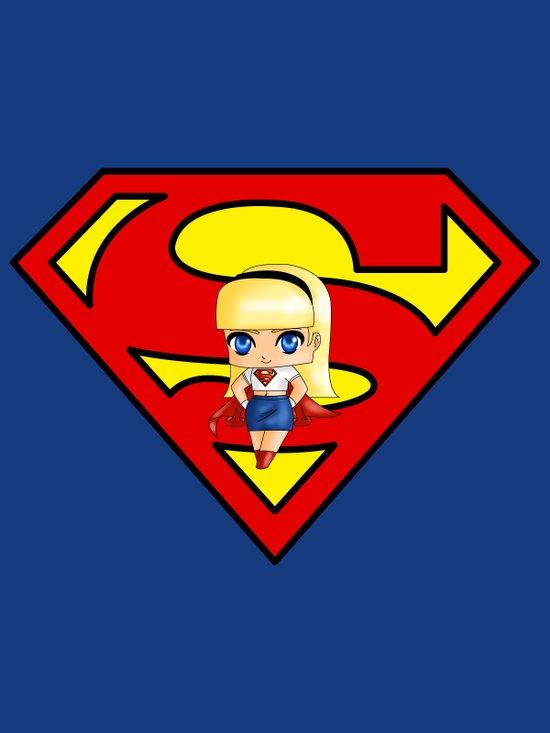 Chibi Supergirl Art Print