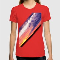 Swedish midsummer sky Womens Fitted Tee Red SMALL