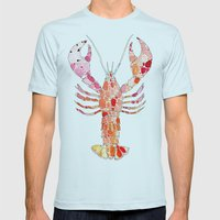 Lobster Mens Fitted Tee Light Blue SMALL