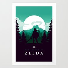 The Legend Of Zelda - Gr… Art Print