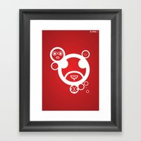 WHITE - Type Face Framed Art Print