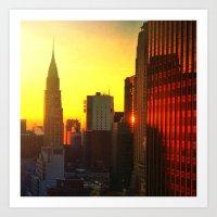 Chrysler Sunrise Art Print