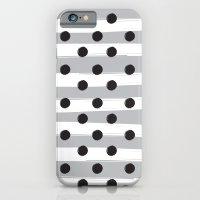 BLACK DOTS MEET WHITE STRIPES iPhone 6 Slim Case