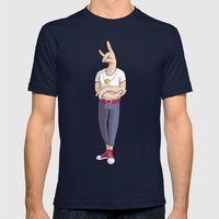 Smile Me Mens Fitted Tee Navy SMALL