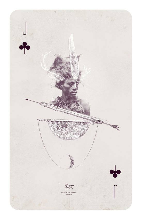 Jack of Clubs Canvas Print
