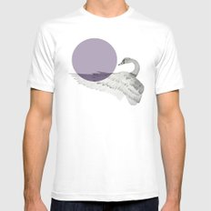 swan SMALL White Mens Fitted Tee