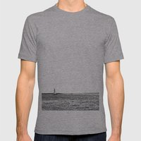 sail Mens Fitted Tee Athletic Grey SMALL
