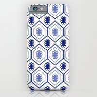 iPhone & iPod Case featuring Mali Floral Blue by fable design