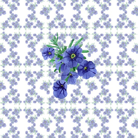 Violet Flowers Pattern Art Print