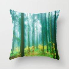 Fairy tale (Green) Throw Pillow