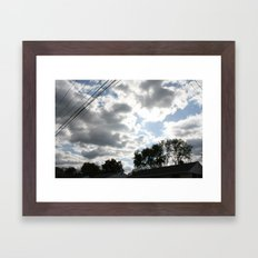 The clouds looked so vibrant, Framed Art Print
